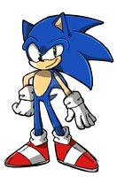 Sonic the Hedgehog (SKETCH PRACTICE) by cupidsonic