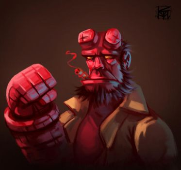Hellboy by antonio-panderas