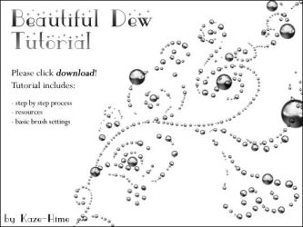Tutorial: Beautiful Dew by Kaze-Hime
