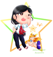 D1 Chibi Project No.04 : Me! XD (Canceled) by chichicherry123