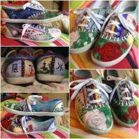 Painted Fandom Shoes by Alaminia
