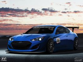 Hyundai Genesis coupe GTR_front by DURCI02