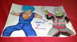 Vegetto VS (god) Zamasu by Hibejime