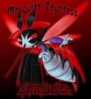 NecroMasters - Card Art - Mosquito Countess by PlayboyVampire