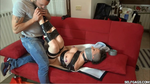 Toe Sucked in Tape Bondage by Selfgags