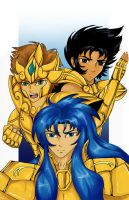 Gold Saints by T-Nightshade