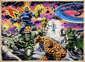 The Fantastic Four vs. Darkseid and the New Gods! by Simon-Williams-Art