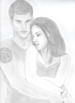 New moon - Jacob and Bella by madda94