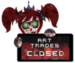 PC - Evil Baby Art Trades Closed Stamp by BlueBismuth