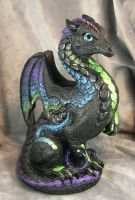Matte black Windstone dragon by Bladespark
