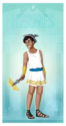 Greek Gods - Hermes PRINT by JadeAriel