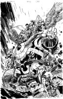 INKING SAMPLE - ARDIAN SYAF'S EARTH 2 #26 COVER by FanBoy67