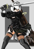 Nier Automata Yorha 2b with adept style XD by sepatuxsandal