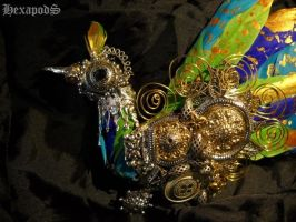 Imperial Peacock Brooch Detail by SpiffsHexapodS