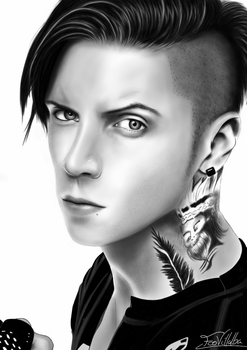 Andy Biersack Drawing by FcoVillalba