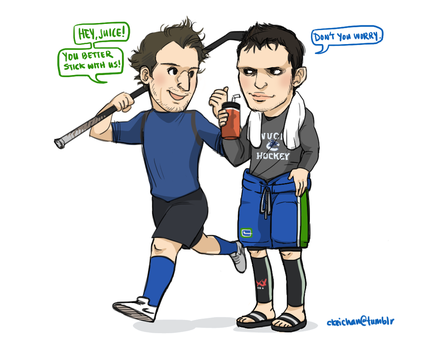 Vancouver Canucks' Kev and Kes by koenta