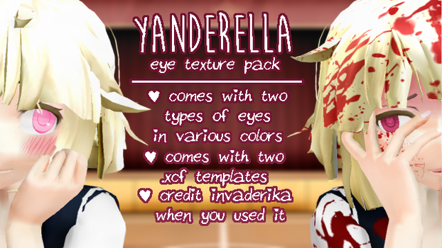 [MMD] Yanderella Inspired Eyes  [Texture Pack] by InvaderIka