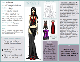 OC Information Sheet-Bellatrix by CalicoWoolfe