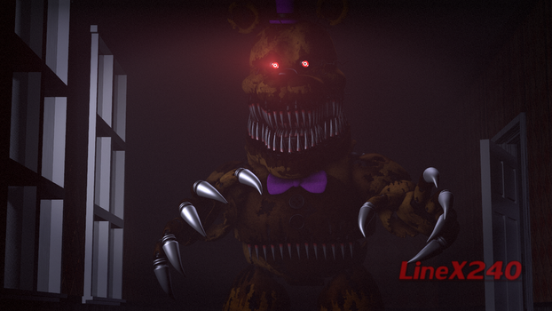 [SFM FNAF4] Fredbear is gonna haunt you... by LineX240