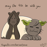 PAWS Mew the 4th be with you by zeravlam