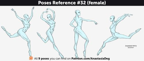 Poses Reference #32 (female) by Anastasia-berry