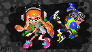 Pixel Splatoon by RollToNotDie