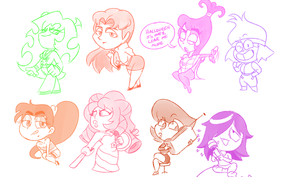 some chibi doodles by SuperSpoe
