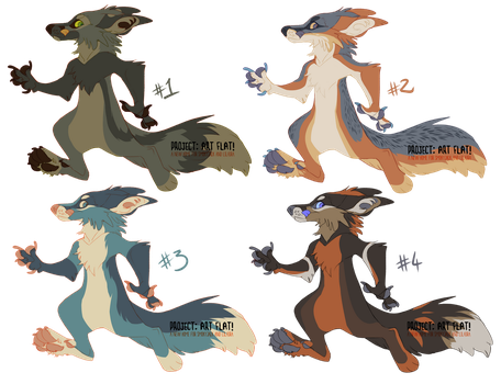Fox adoptables CLOSED by LiLaiRa