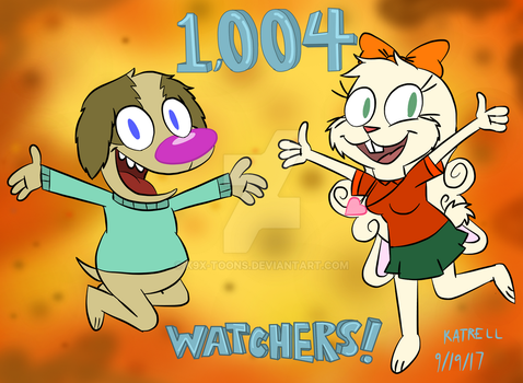 Over 1000 Watchers! by BloodStainTheCanineX