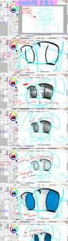 Anime ::chibi:: Eyes Tutorials ~:: SAI ::~ by Captain-Swan