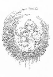 Howl and Sophie - lineart by smallinu