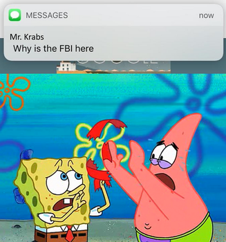 Why is the FBI here? by onyxcarmine