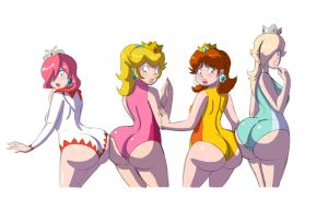 Princess Butts by Axel-Rosered