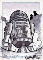 R2D2 Sketchcard by stratosmacca