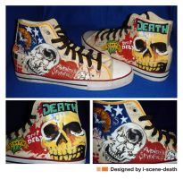 BMTH - A7X shoes by i-scene-death