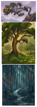 Trees by Drkav