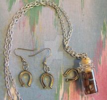 Cookie Jar Necklace-Earrings by ElkStarRanchArtwork