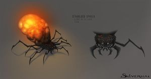 Silvernai: starblood spider by telthona