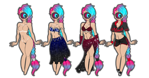 Onyx-outfits 1/2 Sets by XenoBaby