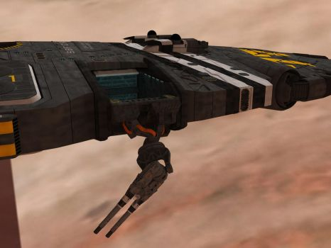 SBF Cressida  secondary weapons deployment 4 by Scifiwarships