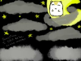 Hamster wish to be on the Moon by AznFlesh