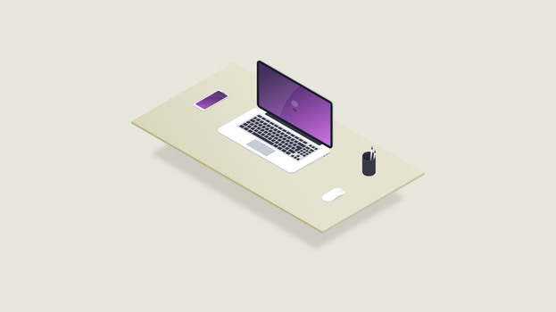 Isometric Desk by kartine29