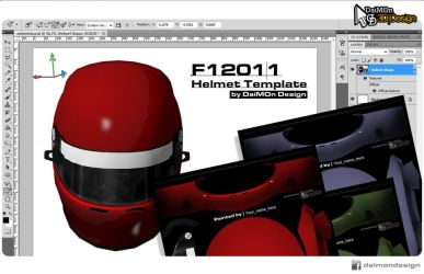 3D Helmet Templates for F12011 by DaiMOnHU