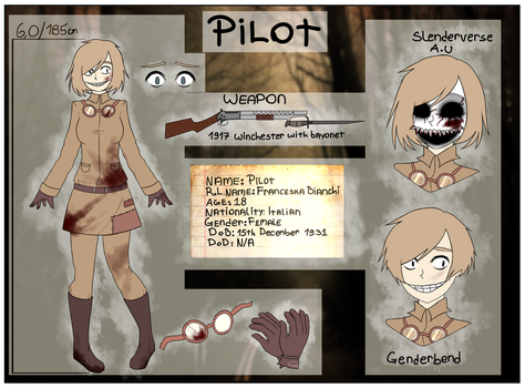 Horror/Slenderverse OC Reference sheet by Yugo-55