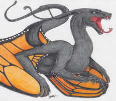 Monarch Butterfly Dragon by KazultheDragon