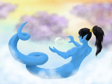 Djinn and Bubble by CageyJay