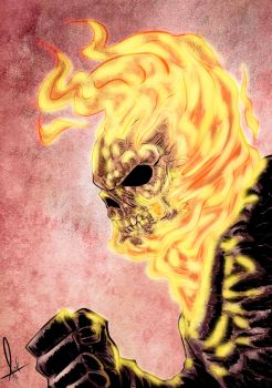 Ghost Rider Close Up by azzh316