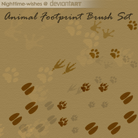 Free Animal Footprints Brush Set by petra-gergely