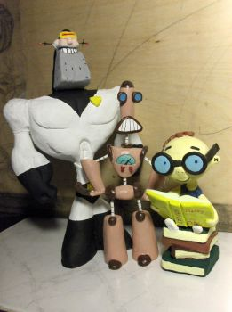 Time Squad Group Statue by Kiwy