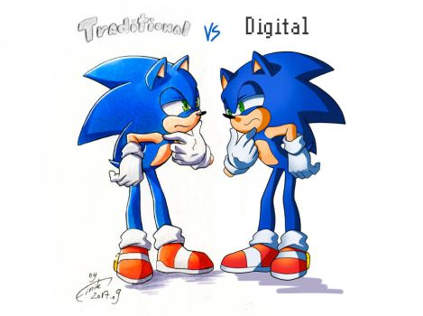 Traditional vs Digital by FinikArt